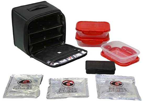 6 Pack Fitness Meal Planning Removable Compartment