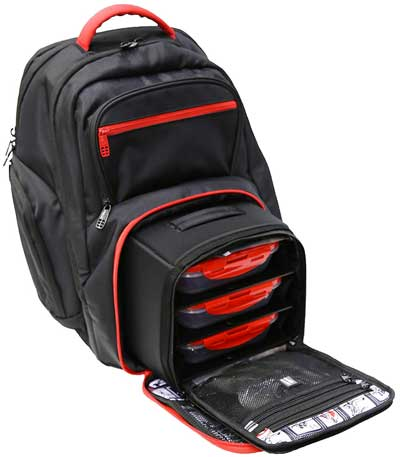 6 Pack Fitness Backpack for Packing Meals in Cool Compartment and Gym Gear