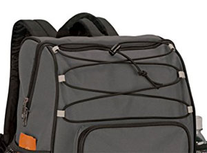 Bungee Cord on top of the OA Gear Backpack with Built-In Cooler