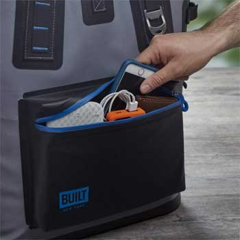 Built NY Outer Waterproof Pocket for Small Items and Electronics
