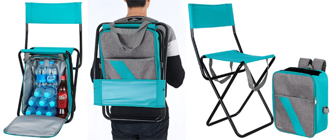 3 Views of the Cooler Backpack with Chair with Backrest  sc 1 st  Picnic Time Zuma Insulated Cooler Backpack & 4 Reasons to Buy (or Not) a Cooler Backpack Chair
