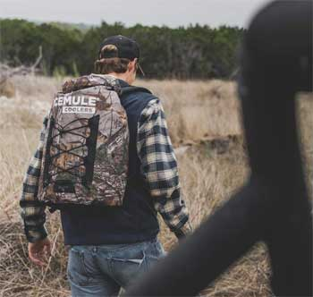 Take the Icemule Pro Backpack Cooler in Realtree Xtra Camo on Long Hikes Because it Can keep Your Drinks Cold for 24 Hours!