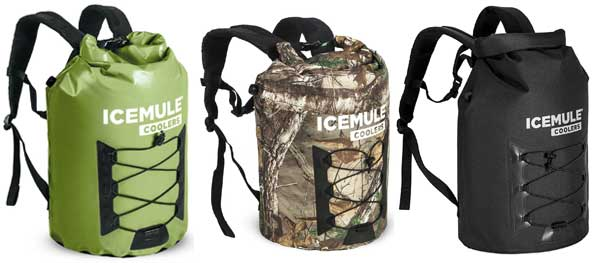 Icemule Pro Coolers (23 Liters) in Olive, Camo and Black