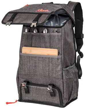 Igloo Daytripper Backpack with Wood Cheese Board and Utensils