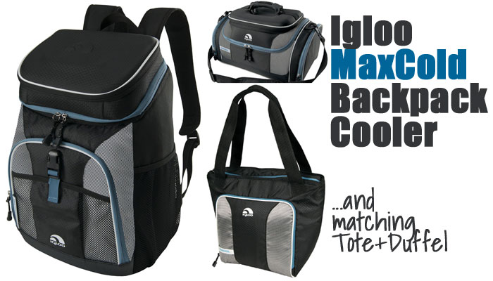Igloo Maxcold Backpack Cooler - and matching Duffel and Tote Coolers