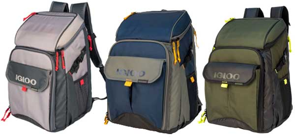 Igloo Outdoorsman Backpack Coolers in 3 Colors