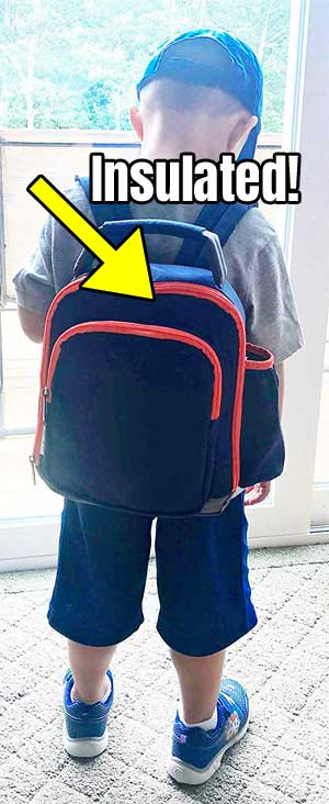 Insulated Backpack Lunch Box for Kids
