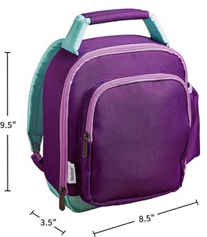 Dimensions of Kids Mini Insulated Lunch Box Backpack