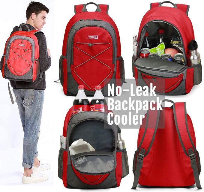 Features of Leak-Proof Backpack Cooler: Size, Storage Pockets, Shoulder Straps