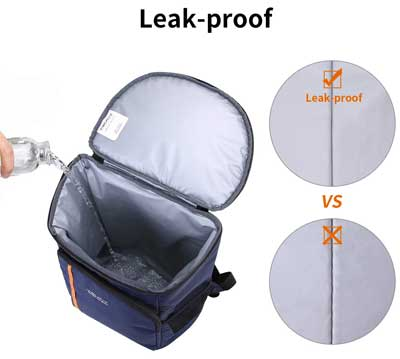 Leak Proof Cooler Backpack with BPA-Free Lining