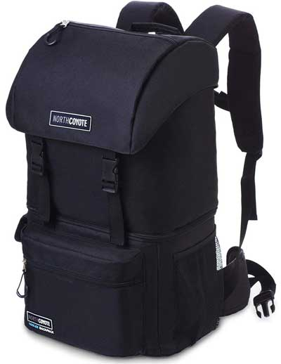 North Coyote Cooler Backpack with 2 Cooler Compartments, for Hiking, Backpacking and Lunches