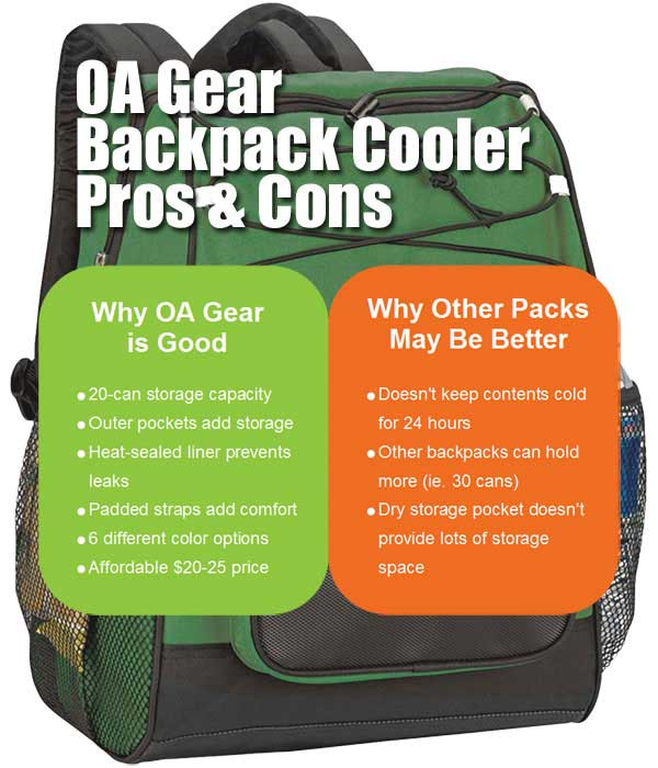 OA Gear Backpack Cooler Pros and Cons