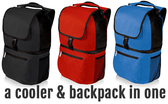 Picnic Time Zuma Backpack Cooler in 3 Colors: Black, Red and Blue