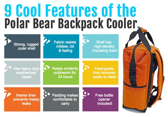 Polar Bear Backpack Cooler Features
