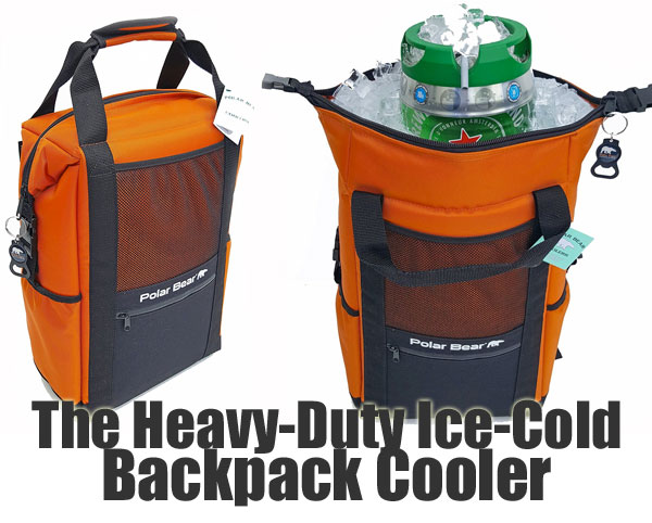 Heavy Duty Ice Cold Polar Bear Cooler Backpack with Mini Keg Inside