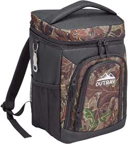 Wide Mouth Camo Backpack Cooler with Free Bottle Opener